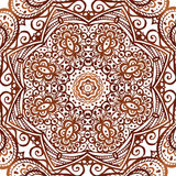 Ornate vector circle pattern in indian style. This is file of EPS10 format Stock Photos