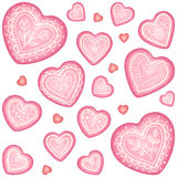 Ornate vector decorative heart set Royalty Free Stock Photography