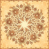Ornate vector doodle flowers background Royalty Free Stock Photos