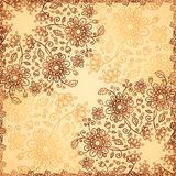 Ornate vector doodle flowers background Stock Images