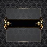 Ornate  vector frame. Ornate golden decorative vector frame Stock Image