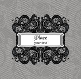 Ornate vector frame Royalty Free Stock Images
