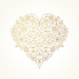 Ornate vector heart. Valentine's Day Illustration. Royalty Free Stock Image
