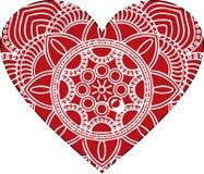 Ornate vector heart in Victorian style. Elegant element for logo design. Lace floral illustration for wedding stock illustration