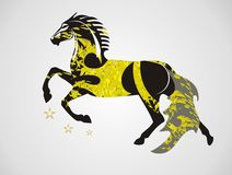 Ornate vector horse in a jump Stock Images