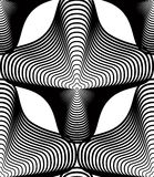 Ornate vector monochrome abstract background with black lines. S Stock Image
