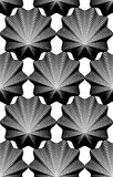 Ornate vector monochrome abstract background with black lines. S Stock Images