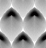 Ornate vector monochrome abstract background with black lines. S Royalty Free Stock Photos