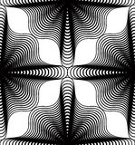 Ornate vector monochrome abstract background with black lines. Stock Photography