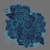 Ornate vector neon floral card design. Ornate vector neon hand drawn floral card design Royalty Free Stock Photo