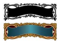 Ornate, vector panel design with flourishes stock illustration