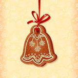 Ornate vector traditional christmas sweet bell Royalty Free Stock Photos