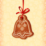 Ornate vector traditional christmas sweet bell Royalty Free Stock Image