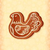 Ornate vector traditional christmas sweet bird Royalty Free Stock Image
