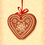 Ornate vector traditional christmas sweet heart Royalty Free Stock Image