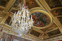 Ornate Versailles Palace Ceiling Stock Images