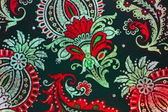 Unusual botanic paisley pattern. An ornate and very elaborate pattern of flowers and leaves Royalty Free Stock Images