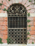 Ornate Victorian English iron gate Royalty Free Stock Photo