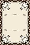 Ornate victorian page Stock Photo