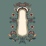 Ornate vintage background. Can be used on a website, postcards, greetings. Wonderful decorated royalty free illustration