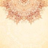 Ornate vintage background in mehndi style Royalty Free Stock Image