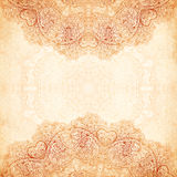 Ornate vintage background in mehndi style Stock Photography