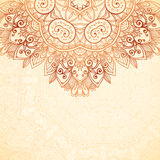 Ornate vintage background in mehndi style Royalty Free Stock Photo