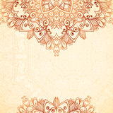 Ornate vintage background in mehndi style Royalty Free Stock Photography