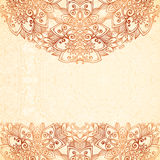 Ornate vintage background in mehndi style Royalty Free Stock Images