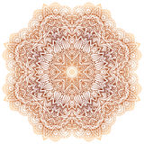 Ornate vintage beige vector doodle circle pattern Stock Image