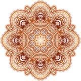 Ornate vintage beige vector doodle circle pattern Stock Images