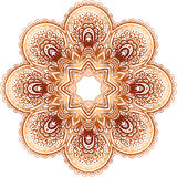 Ornate vintage beige vector doodle circle pattern Royalty Free Stock Photos