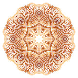 Ornate vintage beige vector doodle circle pattern Royalty Free Stock Photo
