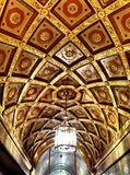 Ornate vintage ceiling Stock Photo