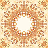 Ornate vintage circle pattern in mehndi style Stock Image