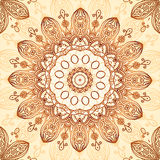 Ornate vintage circle pattern in mehndi style Stock Images
