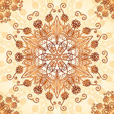 Ornate vintage circle pattern in mehndi style Royalty Free Stock Photos