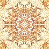 Ornate vintage circle pattern in mehndi style Royalty Free Stock Photo
