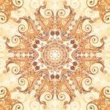 Ornate vintage circle pattern in mehndi style Royalty Free Stock Photo