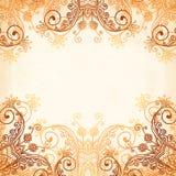 Ornate vintage circle pattern in mehndi style Stock Photography