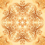 Ornate vintage circle pattern in mehndi style Stock Photo