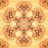 Ornate vintage circle pattern in mehndi style Royalty Free Stock Photography