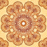 Ornate vintage circle pattern in mehndi style Stock Photography