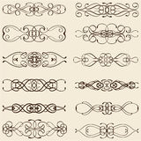 Ornate vintage divide lines Royalty Free Stock Images
