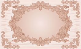 Ornate vintage frame Stock Images