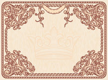 Ornate vintage frame Royalty Free Stock Image