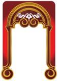 Vintage gold frame on a burgundy background royalty free illustration