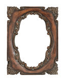 Ornate vintage frame over white background Stock Photography