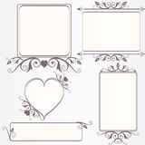 Ornate vintage frame set Stock Photography