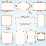 Ornate vintage frame set with wedding rings Royalty Free Stock Photography